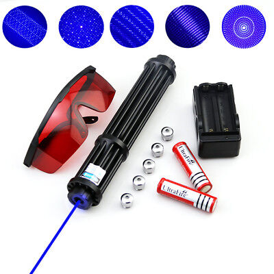 WBY3-A High Power 450nm Blue Laser Pointer BURNING Visible Beam Torch Flashlight