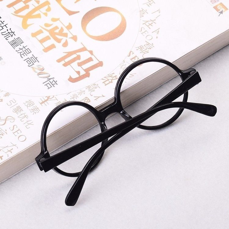 Cute Kids Glasses Black Resin No Lens Frame Fancy Costume Movie Cosplay Props