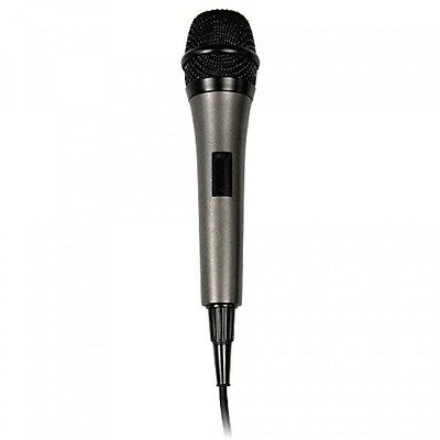 Singing Machine Unidirectional Dynamic Microphone with 10 Ft. Cord, SMM-205, New