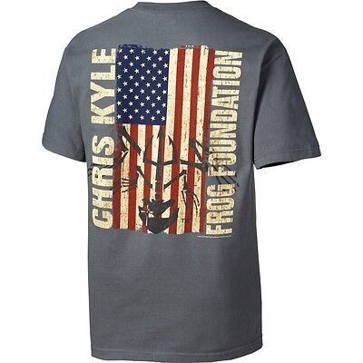 Chris Kyle Frog Foundation Epic Flag T Shirt American Sniper New Authentic S 3Xl
