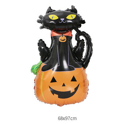 Halloween Balloon Garland Kit Black Cat Theme Party Ballon Decor Black Cat