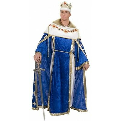 King's Robe Medieval King Royalty Velvet Deluxe Halloween Adult Costume 2 COLORS](Medieval King Costumes Adults)