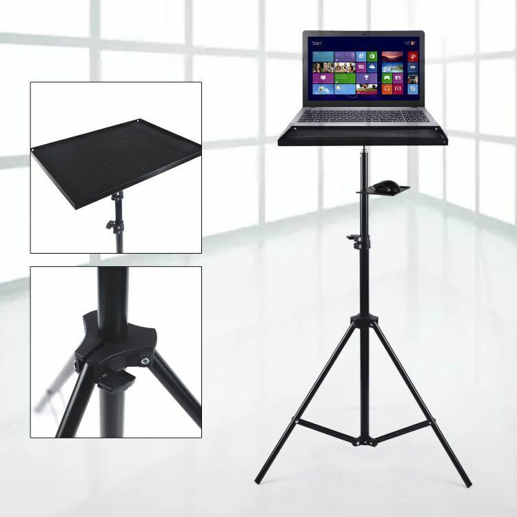69-190cm Adjustable height tripod computer support ,mouse tray Load 5kg(11.02lb)