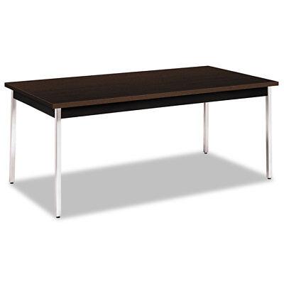 Hon Utility Table Rectangular 72w X 36d X 29h Mochablack Utm3672mopch