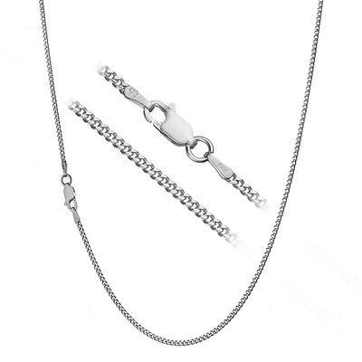 Solid 925 Sterling Silver Italian 2mm Cuban Curb Link Chain Necklace ALL SIZES - Italian Sterling Silver Curb Chain