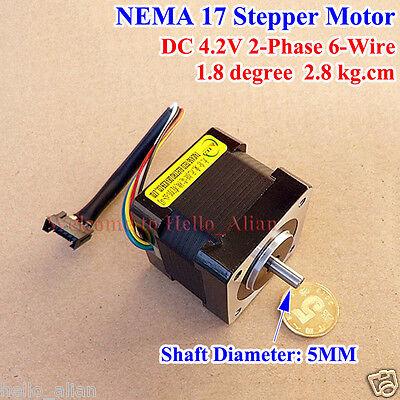 Nema 17 42mm 2-phase Stepper Motor 5mm Shaft Reprap Cnc Prusa Rostock 3d Printer