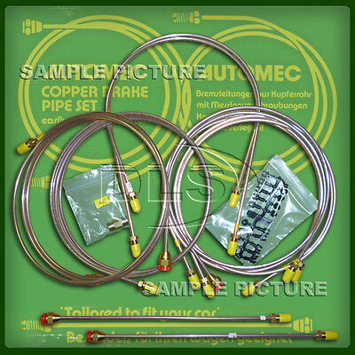 Automec Copper Nickel Brake Pipe Line Kit Land Rover Defender 90 RHD DA7418