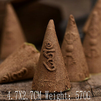 Tibetan Tibet Buddhist Pure Natural Big OM Lection Cone Incense Handmade 50PCS