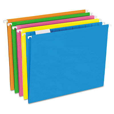 Pendaflex Glow Hanging File Folders 15 Tab Letter Glow Assorted 25box 81672