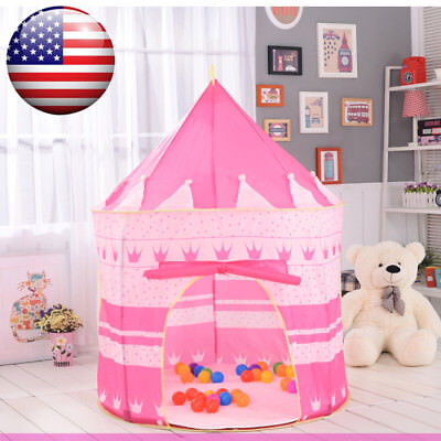Princess Castle Play House Large Indoor Outdoor Baby Play Tent For Girls Pink