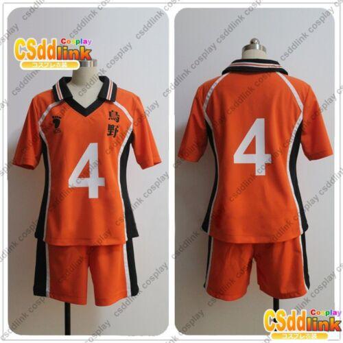 Details about Haikyu!!Yu Nishinoya cosplay costume number 4 orange