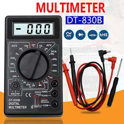Lcd Digital Multimeter Ac Dc Probe For Volt Amp Volt Ohm Tester Meter Dt-830b Tw