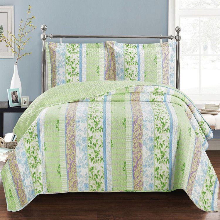 Envious Modern Hayley Bright Spring Forest Design Quilt Set