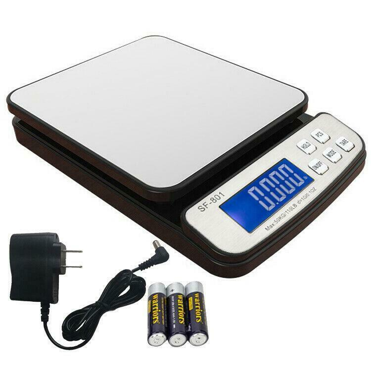 110 LB x 0.1 OZ Digital Shipping Scale Postal Scale Backlit LCD with AC Adapter
