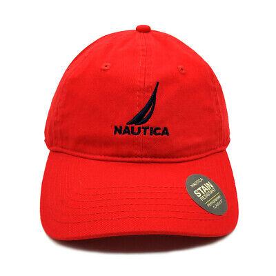 Nautica Cap Baseball Golf Ball Classic Sport Casual Red Unisex Hat