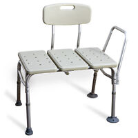 Bath Tub Transfer Bench with Back, Arm and Molded Seat