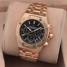 AP Audemars Piguet clear back Automatic Watch Stainless Steel GOLD - ask for video