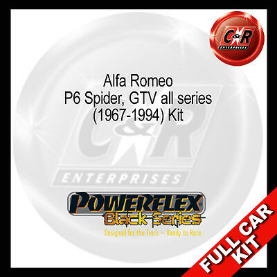 Alfa Romeo GTV all series 67 94 Powerflex Black Complete Bush Kit
