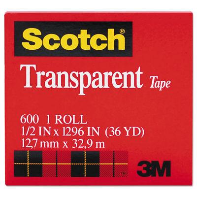 Scotch Transparent Tape 12 X 1296 1 Core Clear 600121296