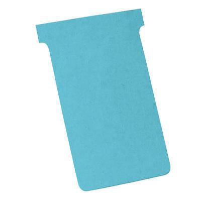 Nobo T-Cards Tab Top 15mm W124x Bottom W112x Full H180mm Size 4 Light Blue Pack