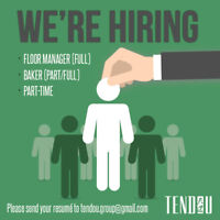 NOW HIRING FULL TIME/ PART TIME FRONT COUNTER