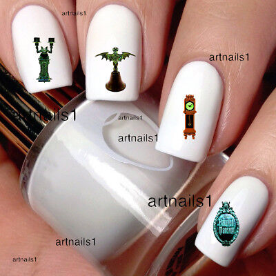 Disney Halloween Nail Decals (Disney Nails Haunted Mansion Ghost Halloween Bat Art Water Decal Stickers)
