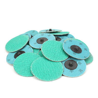 25 Pack - 3 36 Grit Zirconiagrind Aid Quick Change Sanding Discs Type R Roloc