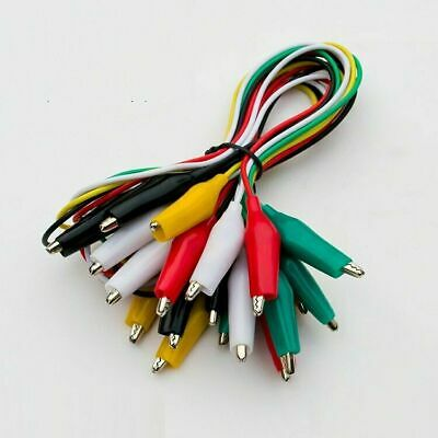 Crocodile Alligator Double-ended Clip Test Jumper Probe Lead Wire Cable