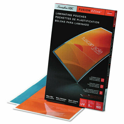 Swingline Fusion Ezuse 11.5x17.5 5 Mil Laminating Pouches 100 Ct. Uv Protection
