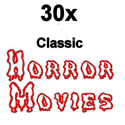 30x Classic HORROR Movies on 15x DVDs Vintage Old Scary Halloween Cult Films NEW