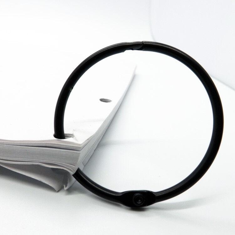 Schlüsselringe Aufklappbar Schwarz Heftringe von 14-38mm Heftring Schwarz