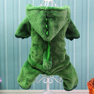 Puppy Dinosaur Costumes (Dog Costumes Pet Apparel Clothing Puppy Coat Jacket Jumpsuit Cute dinosaur)