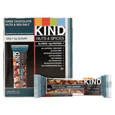 KIND Nuts And Spices Bar Dark Chocolate Nuts And Sea Salt...