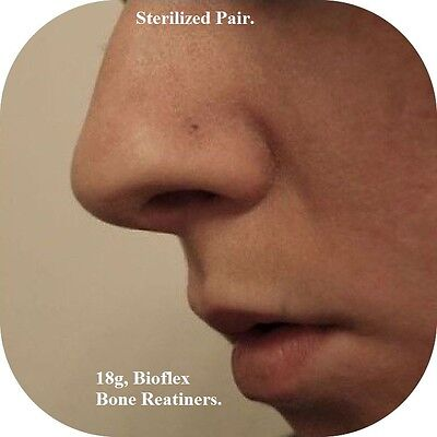 BUY ONE GET ONE FREE, 18G TINY TINY TINY FLAT TOP BIO FLEX NOSE RETAINER