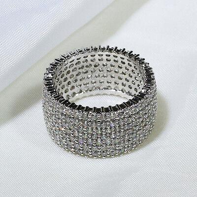 18K White Gold Gf Cz Fashion Jewelry Engagement Wedding Band Ring R7093 Sz 5 10