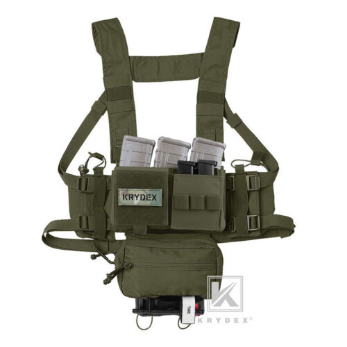 KRYDEX MK3 MK4 Micro Fight Chassis Chest Rig Modular Carrier Pouch Ranger Green