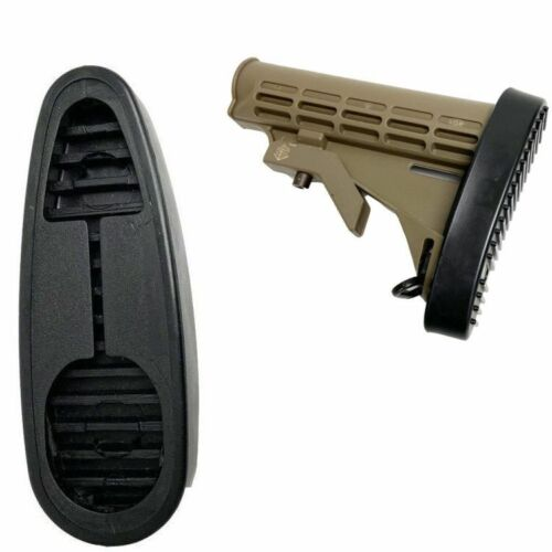 Buttstock Pad Buttpad Recoil Pad Non-slip Glove Fit Rubber 6 Position