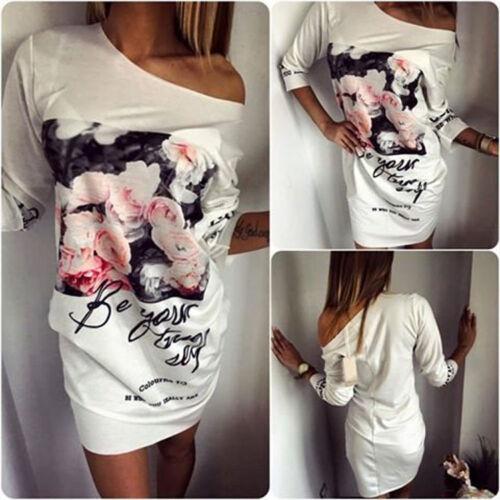 Vintage Damen Minikleid Tunika Stretchkleid Pullover Bodycon Kleid ...