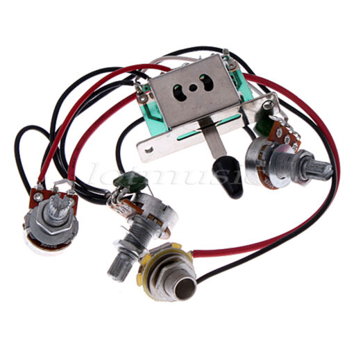 Guitar Wiring Harness Kit 5 Way Switch 500k Pots For