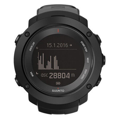 NEW SUUNTO WATCH * AMBIT3 VERTICAL BLACK * GPS * Altitude * Compass SS021965000