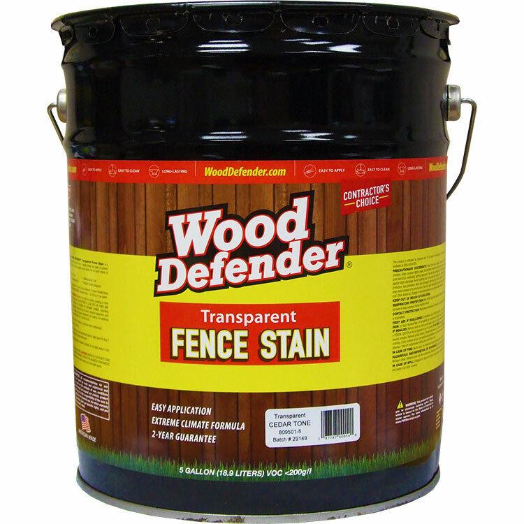 Wood Defender Transparent Fence Stain CEDAR TONE 5-gallon