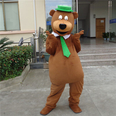 Halloween Brown Bear Mascot Costume Suit Cosplay Party Game Dress Outfit Adult ()