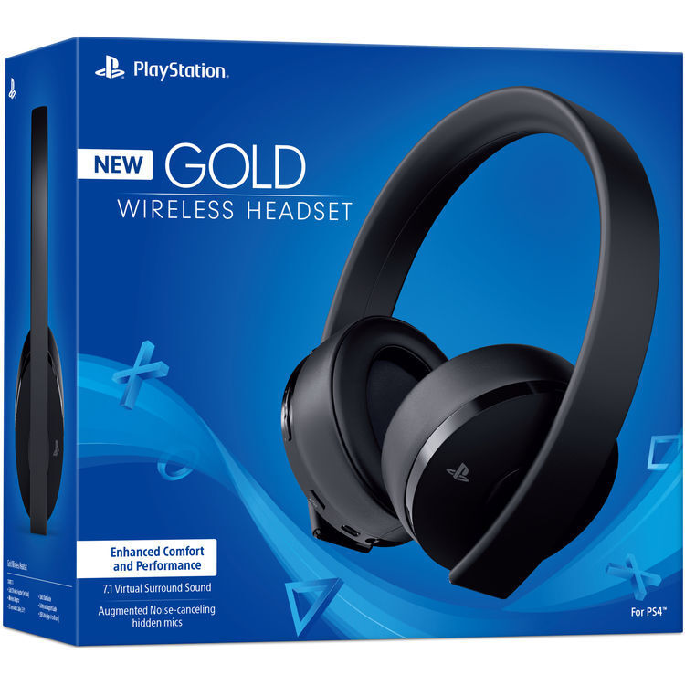 Genuine Sony Playstation Gold Wireless Stereo Headset (CUHYA-0080) - In Box READ