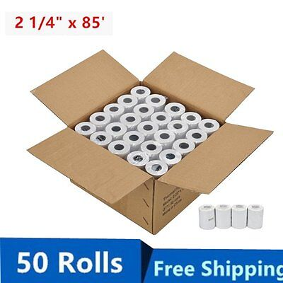 50 Rolls Case 2 14 X 85 Cash Register Credit Card Pos Receipt Thermal Paper