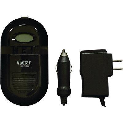 Vivitar Pantalla LCD LI-ION / Aa / AAA AC/Dc Cargador de Batería Universal Sc