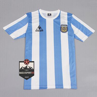 Maglia Argentina Mondiali 1986 - Calcio Jersey Vintage Mondiali Maradona Messi