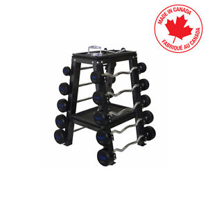STEALTH  Double Sided 10 Bar Barbell Rack with Trays STBBR10ST