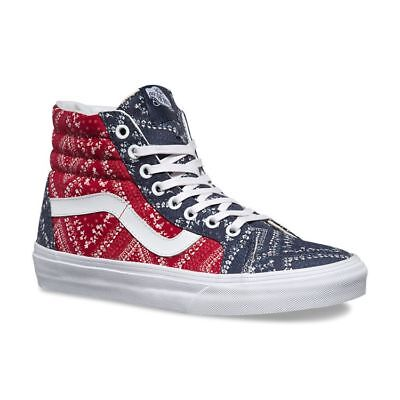 870aa4ab4733 Vans SK8 Hi Reissue Ditsy Bandana Chili Pepper Skate Shoes Womens Size 10