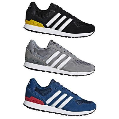 25d98b3011fba3 adidas 10K Original Herren Retro Sneaker Freizeitschuhe 2019 Schwarz Grau  Blau