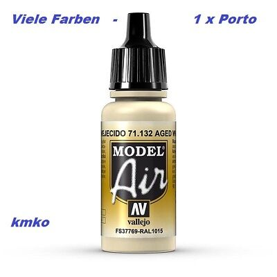 Vallejo Model Air MA 132 71132 Aged White RAL1015 FS37769 15,29 €/100ml